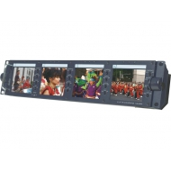 "Datavideo TLM-404H 4 x 4.3"" Rack-Mounted Monitors"
