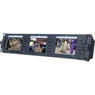 "Datavideo TLM-433 3 x 4.3"" Rack-Mounted Monitors"