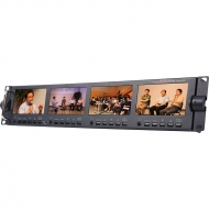 "Datavideo TLM-434H 4 x 4.3"" Rack-Mounted Monitors"