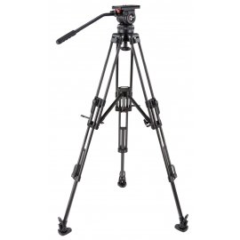 CAMGEAR DV10 CF MLS100 Fluid Head and Carbon Tripod Kit (100mm)
