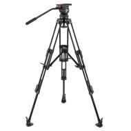 CAMGEAR V10 AL MLS100 Fluid Head and Aluminum Tripod Kit (100mm)