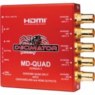 DECIMATOR DESIGN - MD-QUAD MINIATURE (3G/HD/SD)-SDI MultiViewer