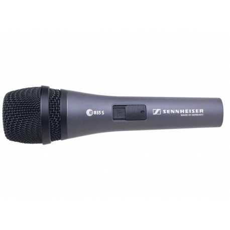 Sennheiser e835-S Cardioid vocal microphone with noiseless on/off switch