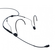 Sennheiser HSP 4-EW Black EW High-quality pre-polarized condenser headmic with cardioid pick-up pattern
