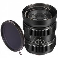 SLR Magic BUNDLE 12mm T1.6 (mFT) Lens + 58-77 Step Up Ring + 77mm variable ND II Filter