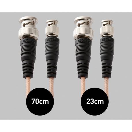 Atomos Samurai SDI Cable Set (1x 23cm mini-BNC/BNC adapter, 1x 70cm mini-BNC/BNC cable)