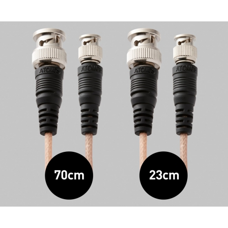 Atomos Samurai SDI Cable Set (1x 23cm mini-BNC/BNC adapter, 1x 70cm mini-BNC/BNC cable)