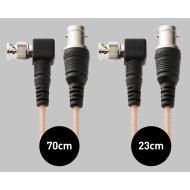 Atomos Samurai Right-Angle SDI Cable Set (1x 23cm mini-BNC/BNC adapter, 1x 70cm mini-BNC/BNC cable)