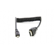 Atomos coiled micro HDMI to full HDMI cable (30cm)