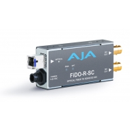 AJA SINGLE CHANNEL OPTICAL FIBER (SC-CONNECTOR) TO SD/HD/3G SDI WITH DUAL OUTPUTS