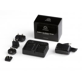 Atomos Dual Battery Charger (1000mA) including AC adapter and worldwide plug kit