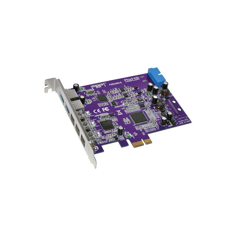 SONNET Tango FireWire 800/USB PCIe Card (3 FireWire 800 + 2 Ext/2Int ...