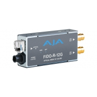 AJA SINGLE CHANNEL OPTICAL FIBER TO SD/HD/12G SDI WITH DUAL OUTPUTS