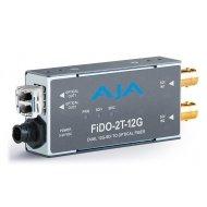AJA DUAL CHANNEL SD/HD/12G SDI TO OPTICAL FIBER WITH LOOPING SDI OUTPUT