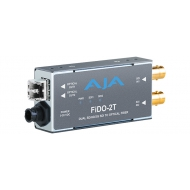 AJA DUAL CHANNEL SD/HD/3G SDI TO OPTICAL FIBER MULTI MODE WITH LOOPING SDI OUTPUT