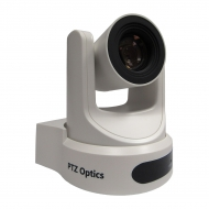 PTZOptics 20X-NDI White - 20X Optical Zoom - NDI, 3G-SDI, HDMI, CVBS, IP Streaming - 1920 x 1080p - 60.7 degree field of view