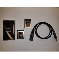 SECOND HAND - 2x SONY XQD CARDS 128GB G SERIES