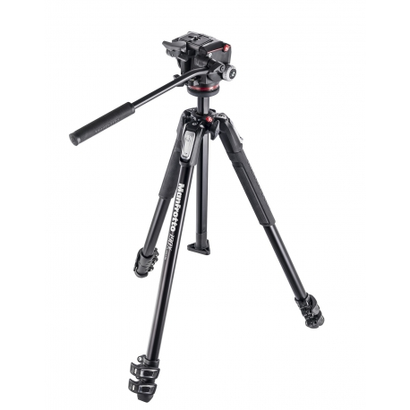 MANFROTTO 190X ALUMINIUM 3 SECTION TRIPOD WITH XPRO FLUID HEAD