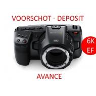 Deposit for pre-order - BLACKMAGIC DESIGN POCKET CINEMA CAMERA 6K EF