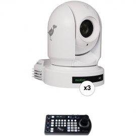 BirdDog 3x P200 White and 1x FREE PTZ Keyboard Controller