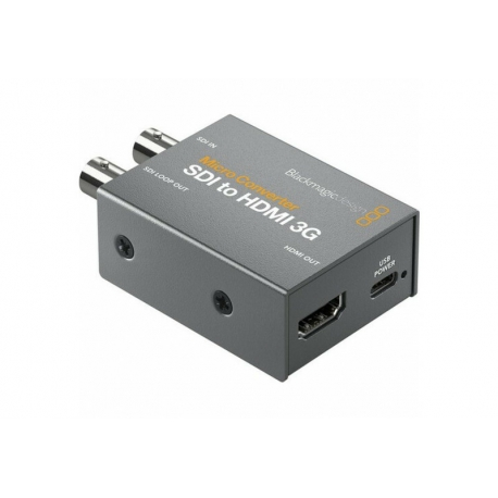 BLACKMAGIC DESIGN MICRO CONVERTER - SDI TO HDMI 3G (incl power supply)