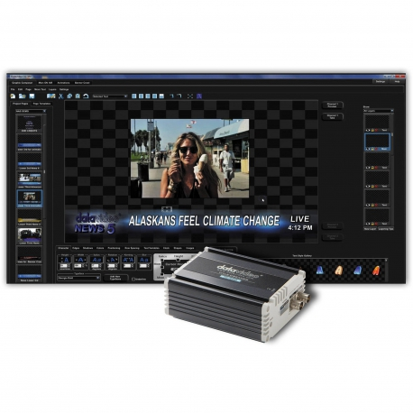 Datavideo CG-350 SD/HD Character Generator Software for live/post production