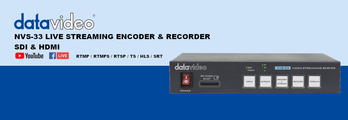 DATAVIDEO NVS-33 - Live streaming encoder & recorder